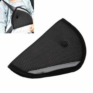 新品未使用 子供用 シートベルトサポーター ブラック 黒(自動車用チャイルドシートクッション)