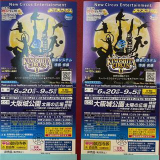 木下大サーカス大阪公演 平日ご招待券2枚セット(土曜も差額なし)(サーカス)