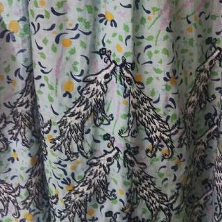 ミナペルホネン(mina perhonen)のミナペルホネン伊勢丹限定wolfandflowerドレス36(ひざ丈ワンピース)