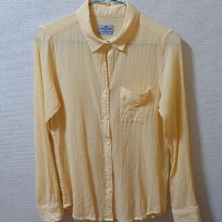 コーエン(coen)の薄手のシャツ イエロー コーエン Lサイズ(シャツ/ブラウス(長袖/七分))