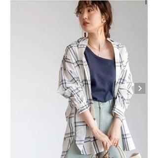 コーエン(coen)のcoen USAコットンチェック柄羽織シャツ(シャツ/ブラウス(長袖/七分))