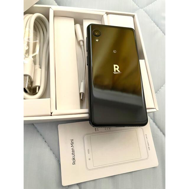 Rakuten(ラクテン)の楽天mini ブラック 本体 楽天モバイル スマホ/家電/カメラのスマートフォン/携帯電話(スマートフォン本体)の商品写真