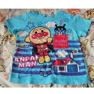 バンダイ(BANDAI)のアンパンマンTシャツ 水色 記名なし 80(Tシャツ)