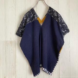 SOU・SOU - SOU SOU 貫頭衣 シャツ 伝統製法 坂尾織物 日本製 羽織 古着