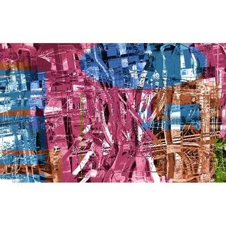CG抽象画1211 テレワーク スマホ 抽象画(アート/写真)