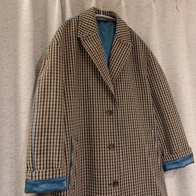 ACNE(アクネ)の早い者勝ち〈acne studios〉チェックロングコート レディースのジャケット/アウター(ロングコート)の商品写真