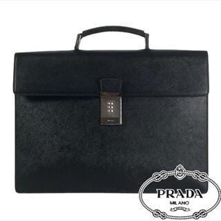 PRADA - 超美品 サフィアーノレザー PRADA ビジネスバッグ A4収納可