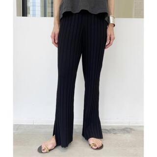 L'Appartement DEUXIEME CLASSE - L'Appartement  Wide Rib Knit パンツ ブラック