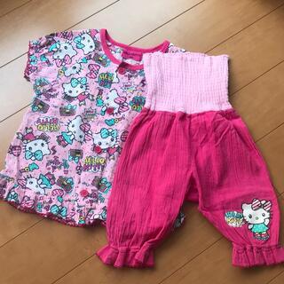 ハローキティ(ハローキティ)のハローキティ 腹巻き付き 半袖パジャマ 90cm (パジャマ)
