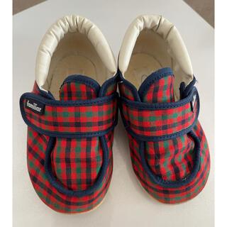 ファミリア(familiar)のファミリア ベビーシューズ 靴 13.5cm 赤チェック(スニーカー)