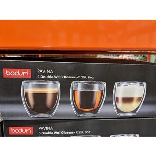 ボダム(bodum)のbodum パウィーナ ダブルウォールグラス 250ml x 6個セット(グラス/カップ)
