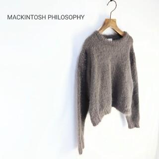 マッキントッシュフィロソフィー(MACKINTOSH PHILOSOPHY)のMACKINTOSH PHILOSOPHY フェザーニットプルオーバー(ニット/セーター)