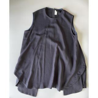 エンフォルド(ENFOLD)の美品⭐︎ENFOLD リネンライクレイヤードトップス(シャツ/ブラウス(半袖/袖なし))