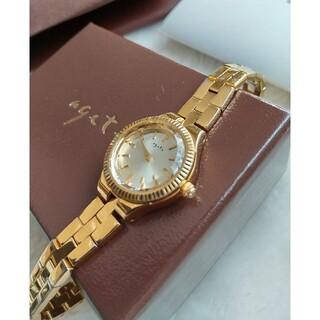 アガット腕時計 agete 1Pダイヤレディースクォーツ