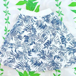 アズールバイマウジー(AZUL by moussy)のアズールバイマウジー  キッズ カスレボタニカル柄スカート(スカート)