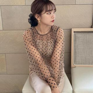 ザラ(ZARA)のsheer dot blouse.(シャツ/ブラウス(長袖/七分))