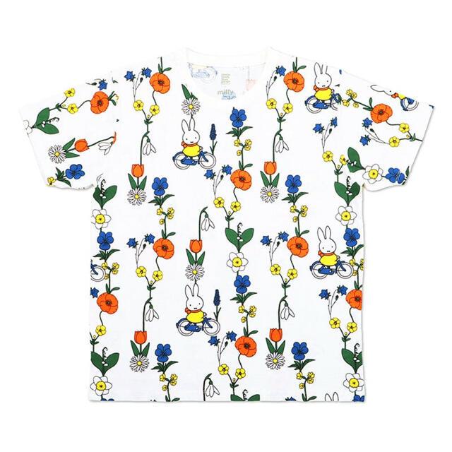 Graniph(グラニフ)のグラニフ お花とミッフィー (ミッフィー) |コラボ総柄Tシャツ レディースのトップス(Tシャツ(半袖/袖なし))の商品写真