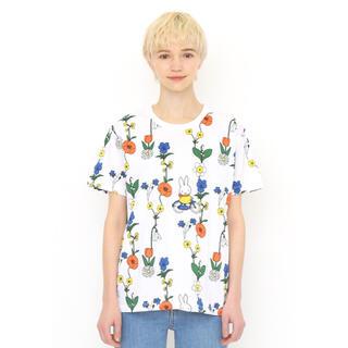 Graniph - グラニフ お花とミッフィー (ミッフィー) |コラボ総柄Tシャツ