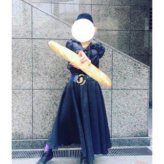グリモワール(Grimoire)のロングスカート ヴィンテージ  ブラック 海外古着 used(ロングスカート)