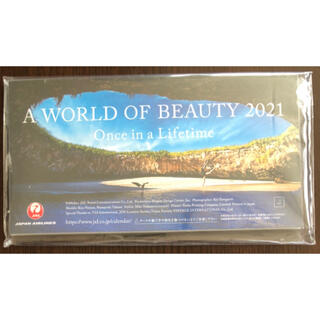 JAL(日本航空) - 【新品】A WORLD OF BEAUTY 2021 JAL 卓上カレンダー
