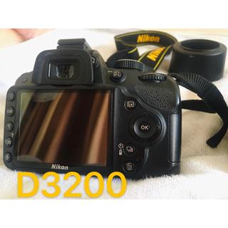 Nikon - ニコン Nikon D3200 BLACK レンズキット ダブルレンズ