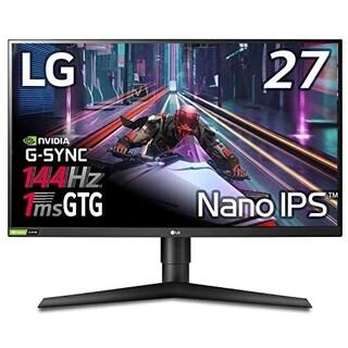 エルジーエレクトロニクス(LG Electronics)のLG 27GL850-B WQHD 144Hz(ディスプレイ)