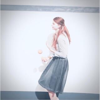 フィーニー(PHEENY)のPHEENY デニムフレアスカート ronherman(ひざ丈スカート)
