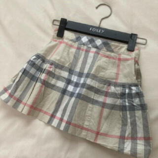 バーバリー(BURBERRY)のバーバリー ロンドン スカート 110  チェック ベージュ フォーマル 卒園(スカート)