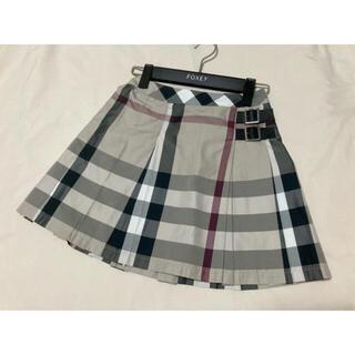 バーバリー(BURBERRY)の美品 バーバリー ロンドン スカート チェック プリーツ ベージュ(スカート)