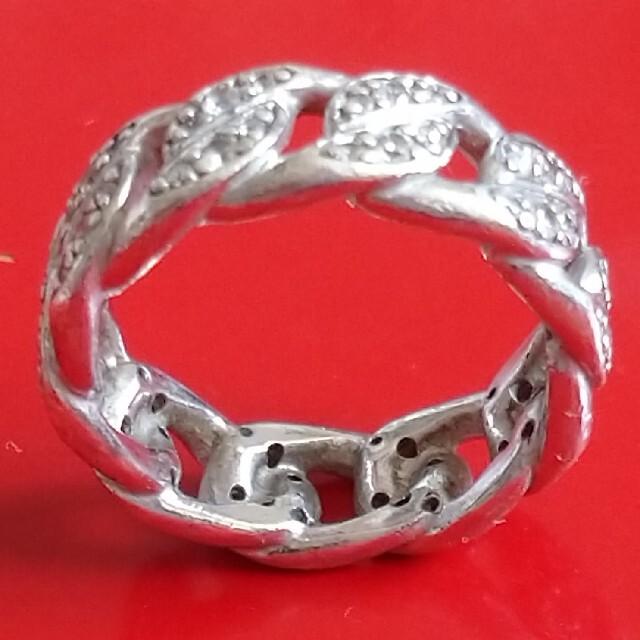 AVALANCHE(アヴァランチ)のAVALANCHE(アヴァランチ)  CZ付シルバー925マイアミリング メンズのアクセサリー(リング(指輪))の商品写真