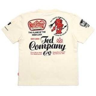 テッドマン(TEDMAN)のテッドマン/Tシャツ/ホワイト/TDSS-535/エフ商会/カミナリモータース(Tシャツ/カットソー(半袖/袖なし))