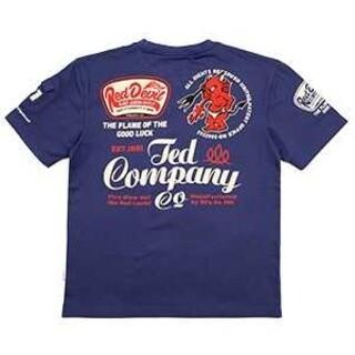 テッドマン(TEDMAN)のテッドマン/Tシャツ/ブルー/TDSS-535/エフ商会/カミナリモータース(Tシャツ/カットソー(半袖/袖なし))