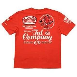 テッドマン(TEDMAN)のテッドマン/Tシャツ/レッド/TDSS-535/エフ商会/カミナリモータース(Tシャツ/カットソー(半袖/袖なし))