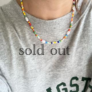 トゥデイフル(TODAYFUL)のcolorful×peal(天然石、淡水パール)ネックレス(ネックレス)