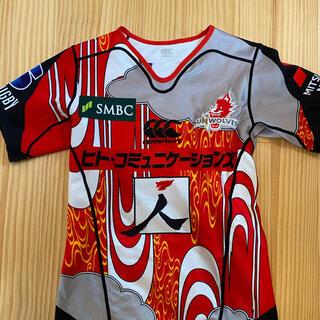 カンタベリー(CANTERBURY)のラグビー サンウルブズ RED狼ジャージ L カンタベリー 支給 日本代表(ラグビー)
