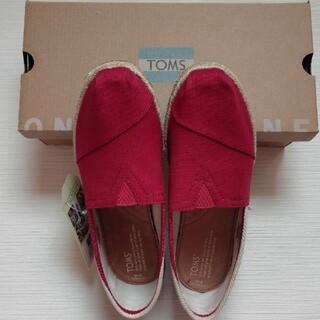 トムズ(TOMS)のトムス 赤 スリッポン 靴新品未使用品(スリッポン/モカシン)