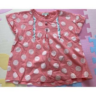 サンカンシオン(3can4on)の3カン4オン 水玉ドット半袖Tシャツ トップス 95(Tシャツ/カットソー)