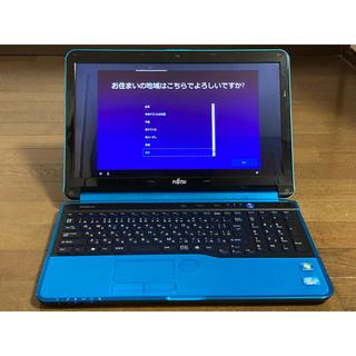 富士通 - 富士通 ノートPC AH56/H ブルー i7/8GB/SSD500GB/BD