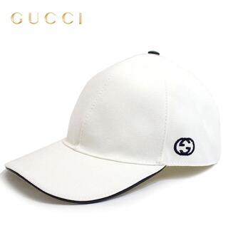 グッチ(Gucci)の4 GUCCI キャンバス ベースボールキャップ 帽子 男女兼用 size M(キャップ)