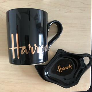 ハロッズ(Harrods)のHarrods マグカップ&ティートレーセット(グラス/カップ)