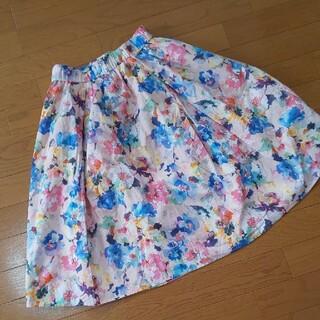 アーバンリサーチ(URBAN RESEARCH)のアーバンリサーチ  ひざ丈 スカート 花柄(ひざ丈スカート)