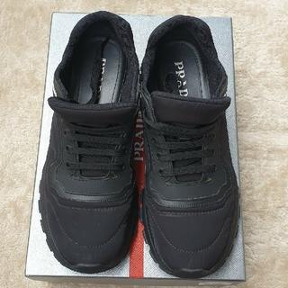 PRADA - 正規店購入 PRADA ブラック スニーカー