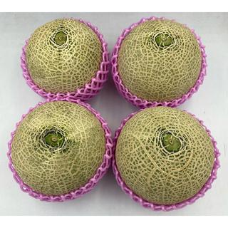 産地厳選 赤肉メロン4玉 1玉約1.1kg(フルーツ)