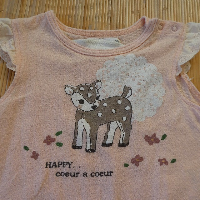 coeur a coeur(クーラクール)のトップス セット 90 キッズ/ベビー/マタニティのキッズ服女の子用(90cm~)(Tシャツ/カットソー)の商品写真