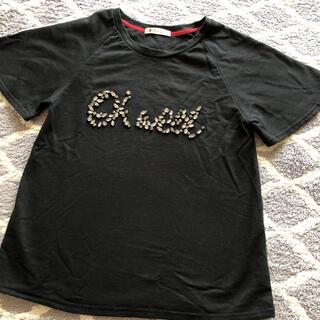 ブージュルード(Bou Jeloud)のブージュルード ロゴビジューTシャツブラック(Tシャツ(半袖/袖なし))