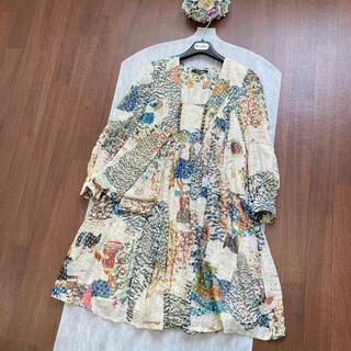 グッチ(Gucci)の⭐︎新品同様⭐︎GUCCI グッチ スカーフベルト シルク ドレス ワンピース(ひざ丈ワンピース)
