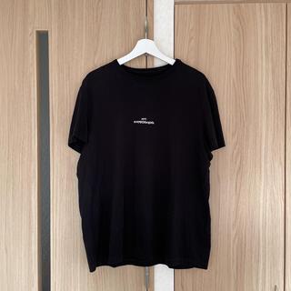 マルタンマルジェラ(Maison Martin Margiela)のマルジェラ maison margiela 反転ロゴTシャツ ブラック 50(Tシャツ/カットソー(半袖/袖なし))