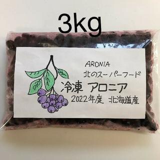 北海道産 アロニア冷凍果実 3kg(フルーツ)