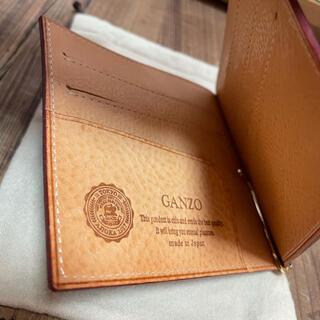 ガンゾ(GANZO)の【GANZO】シンブライドルレザー二つ折り財布マネークリップ(折り財布)