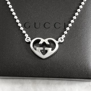 Gucci - 正規品 グッチ ネックレス オープン ハート 銀 SV925 ボール チェーン5